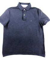Tommy Hilfiger Navy heather Custom Fit Polo ( Current Season) RRP £75