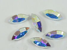 12pcs. 4x2mm CRYSTAL AB NAVETTE FOILED POINTED BACK swarovski rhinestone