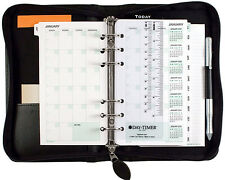 Classic Leather Starter Set Black Cover Planner Organizer Day-Timer Recycled