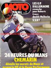 MOTO JOURNAL  604 KAWASAKI GPZ 750 ZX Turbo HONDA CM 250 24 Heures du Mans 1983
