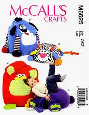 McCall's Pattern M6625 Children Animal Chairs Pouf dog cat monkey elephant 6625