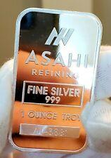 ASAHI 1 OZ .999 FINE SILVER BULLION BAR - BRIGHT DEEP MIRRORS GORGEOUS WOW!!!