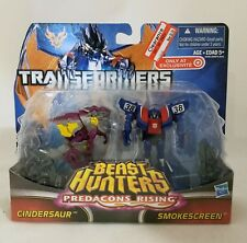 Transformers Beast Hunters Predacons Rising Cindersaur and Smokescreen Target