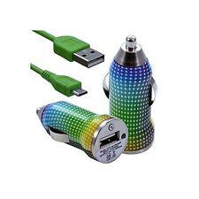 Chargeur auto allume cigare motif CV13 pour Samsung : Wave Y, Wave M, Wave 575,