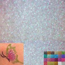 Paillettes Rose Blanc leatherete Tissu Feuille Artisanat Bows GRATUIT UK LIVRAISON