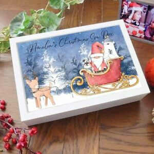 Personalised Wooden Christmas Eve Keepsake Box