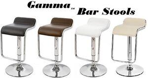 Gamma Modern Adjustable Swivel Bar Stools - Set of 2