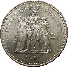 Pièces de monnaie françaises sur Hercule