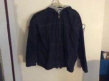 OLD NAVY HOODED JACKET LARGE NAVY/ GRAY LINED FAST SHIPPING!