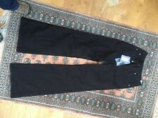 "ALEXANDER McQUEEN Wide leg/Flared black trousers Sz 44/12 Long 37"" leg BNWT"