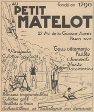 Z9347 Vetements Au Petit Matelot -  Pubblicità d'epoca - 1936 Old advertising