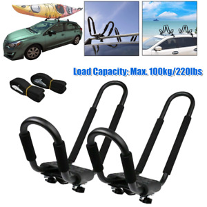 1Pair Kayak Carriers Rack Boat Canoe Luggage rack Holder J-Bar Car SUV Top Mount