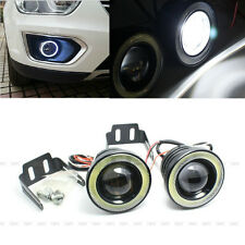"2Pcs 2.5"" 30W 12V Car LED COB Fog Light Lamp Projector Lens Bulb DRL Angel Eyes"