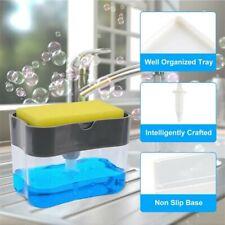 2in1 Soap Pump Dispenser & Sponge Holder for Dish Soap and Sponge for Kitchen