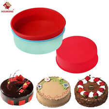 "8"" Round Silicone Cake Pan Mold Muffin Chocolate Pizza Pastry Baking Tray Mould"