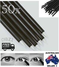 50x Eyeliner Brush Wand Stick Disposable Liner + BONUS Eye Liner Stencil GIFT