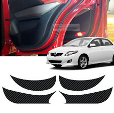 Carbon Door Decal Sticker Cover Kick Protector Set For TOYOTA 2009-2010 Corolla