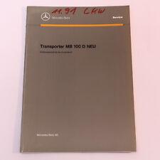 Mercedes MB100 Neu ab Modellpflege - Einführungsschrift Werkstatthandbuch
