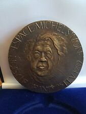 MEDAILLE ESPACE MICHEL SIMON NOISY LE GRAND 1er ANNIVERSAIRE 1989 BRONZE 7,8 cm