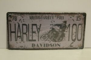 HDNP4 HARLEY - DAVIDSON 1903 Number Plate / Metal Sign New 15.5cm H X 30.5 cm W