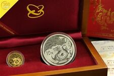 China Lunar Jahr des Drachen 2012 Gold Silber Set PP