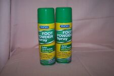 (2) Xtra Care Foot Powder Spray w/ Corn Starch New Cans 3 oz. Ea Soothes & Cools