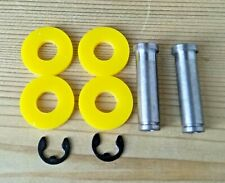 TATTOO MACHINE COIL CORES 2 X 32MM M4 THREAD 1018 STEEL + YELLOW WASHERS + CLIPS