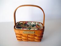 Longaberger 1998 Hostess Appreciation Basket,Garden Splendor Liner & Protector