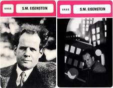 FICHE CINEMA x2 : S.M. EISENSTEIN -  URSS (Biographie/Filmographie)