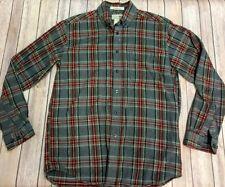 L.L. Bean Mens SMALL S REG Traditional Fit Flannel Shirt Plaid