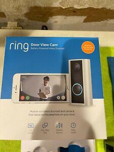 Ring Peephole Cam Video Doorbell Battery powered - Satin Nickel
