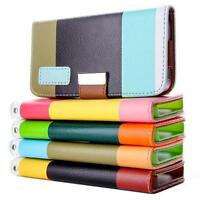 PU Leather Wallet Flip Stand Cover For iPhone 5/5S/SE Folio Book Case