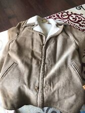 Vintage Sheepskin Lined Suede Winter Men's Coat Jacket Size 44 Great Things Mfg