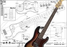 Precision-Style 5-String Bass Full-Scale Plan