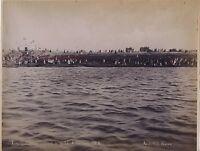 Egitto Foto Abdullah I Villgeaois Entro Il Yacht Khedivè Vintage Ca 1880