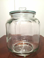 Vintage 5-CENT SALTED PEANUTS Large Glass Lidded Jar Canister/Drug Store Display