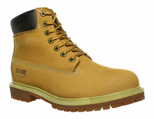 Magnum Mens Foreman 6-Inch Wheat Tan Nubuck Work Boots
