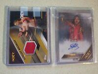 #2/10 /99 RC SHIRT Shinsuke Nakamura 1ST NXT Topps Card AUTOGRAPH AUTO WWE NJPW