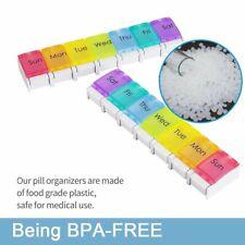 7 Day Pill Box Organizer Daily Weekly Tablet Reminder Travel Medicine Storage AU