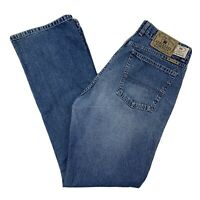 Lucky Brand Womens 86 Low Rise Flare Denim Blue Jeans Size 14/32