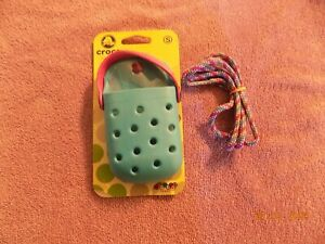 Crocs O-Dial Teal & Pink Cell Phone/insulin pump Case Holder With Strap