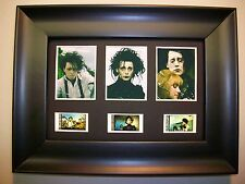 EDWARD SCISSORHANDS Framed Trio Movie Film Cell Memorabilia Collectible gift
