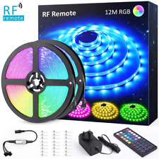 12M39.4ft LED Strip Lights Kit with RF Remote, Novostella RGB Light Colour 24V