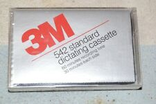 COLLECTIBLE AUDIO CASSETTE: 3M 542 STANDARD DICTATING C60 NEW SEALED PACKAGE NIP