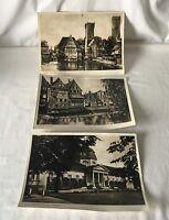 3 x Large Vintage Black and White Souvenir Photographs of Luneberg