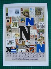 PETER BLAKE ALPHABET BOOKPRINT. 'N'. OTHER LETTERS AVAILABLE. GREAT FOR FRAMING