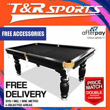 NEW! 8FT LUXURY BLACK SLATE  POOL/ SNOOKER / BILLIARD TABLE