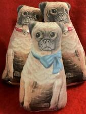 Primitive Pug Dog cloth Animal Doll 1892 repro Litho Mini Pug Pillow Prim