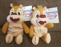 DISNEY STORE Chip And Dale Bean Bag Set Stuffed Animal Plush Toy NWT