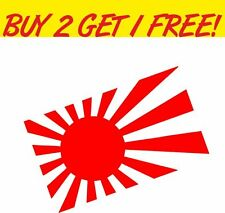 Rising Sun Sticker - For JDM, JAP, Civic, Honda, Toyota, Nissan, Modified